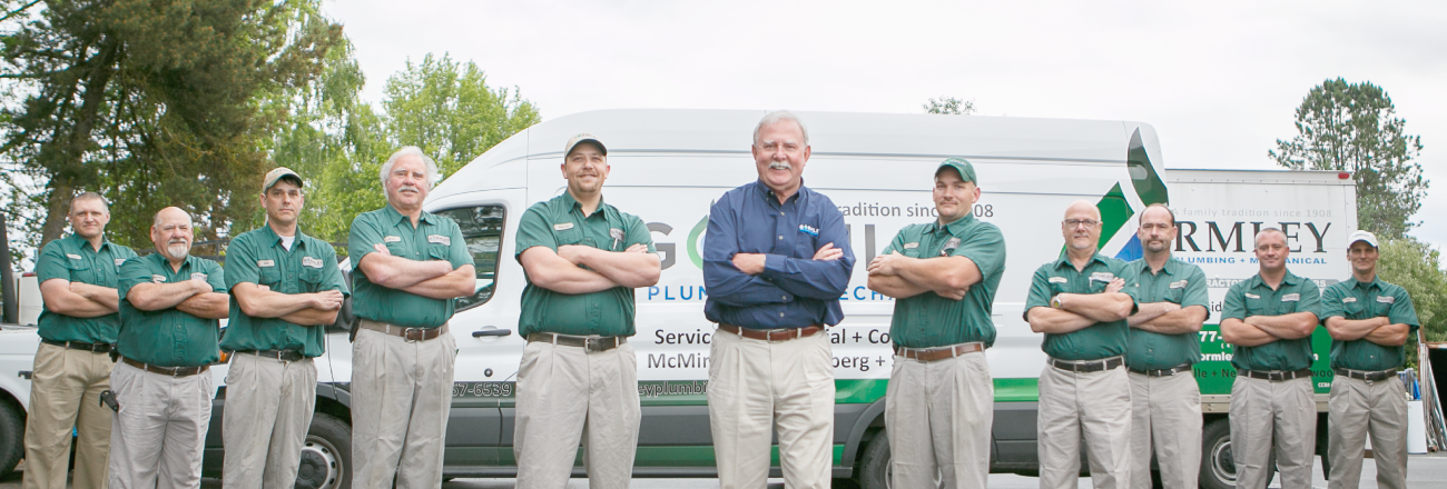 Gormley Plumbing serving McMinnville, Newberg, Salem and Sherwood, Oregon